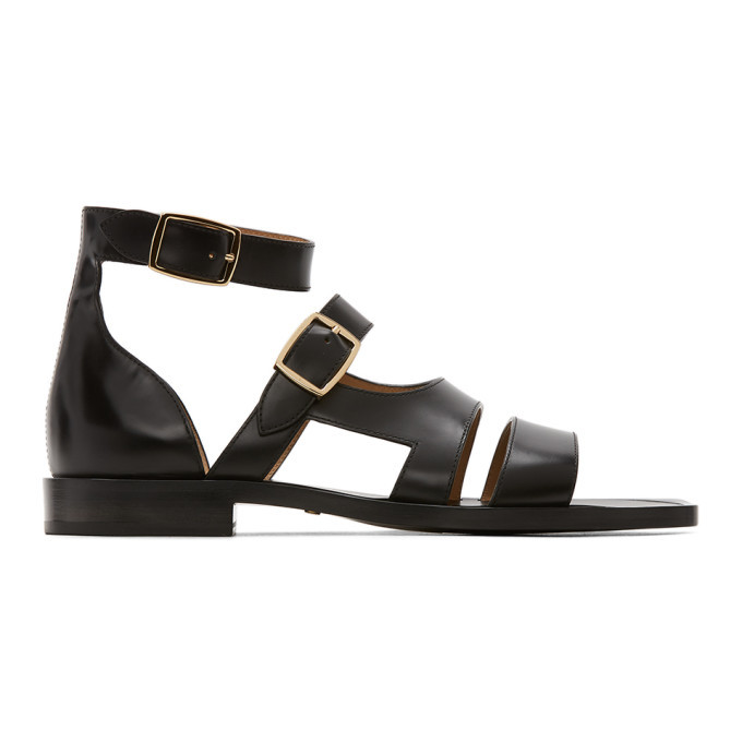 Photo: Fendi Black Leather Sandals