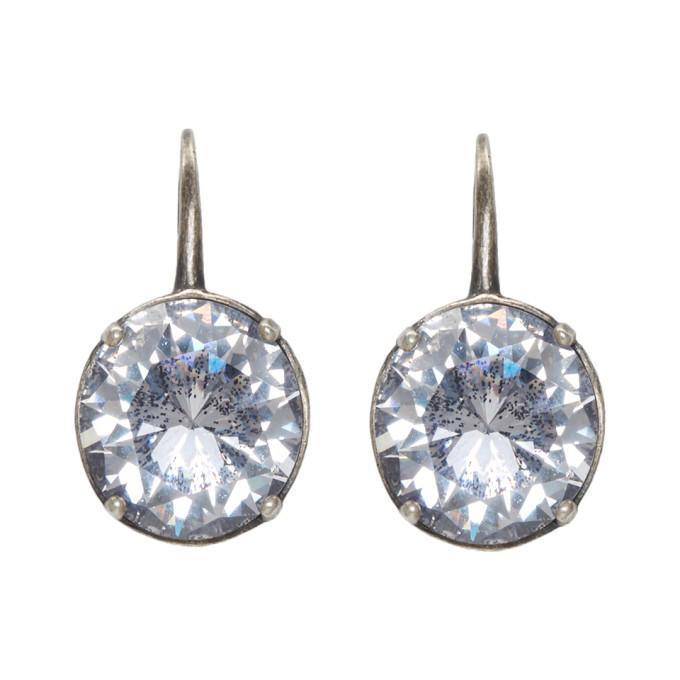 Bottega Veneta Silver Cubic Zirconia Earrings