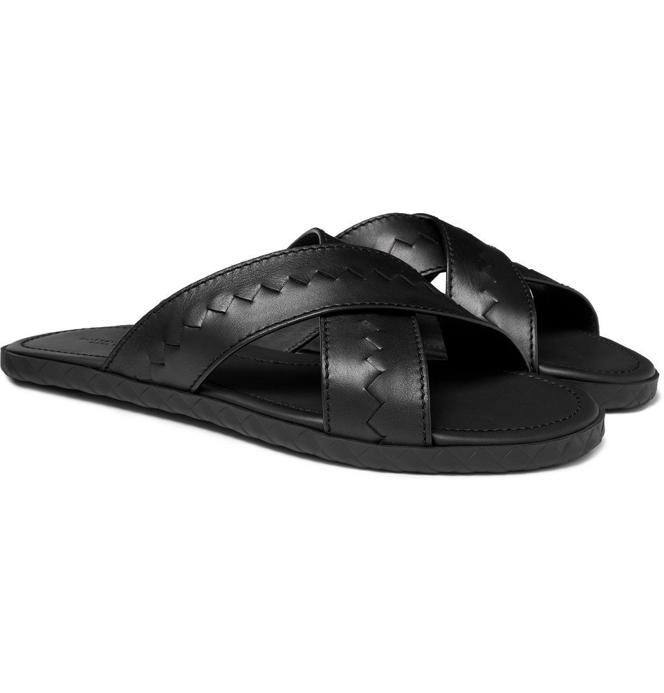 Photo: Bottega Veneta - Intrecciato Leather Sandals - Black