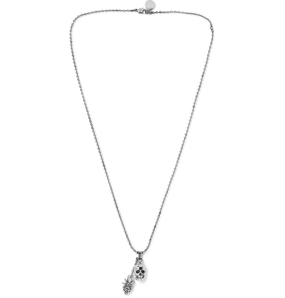 Photo: Alexander McQueen - Silver-Tone Necklace - Silver