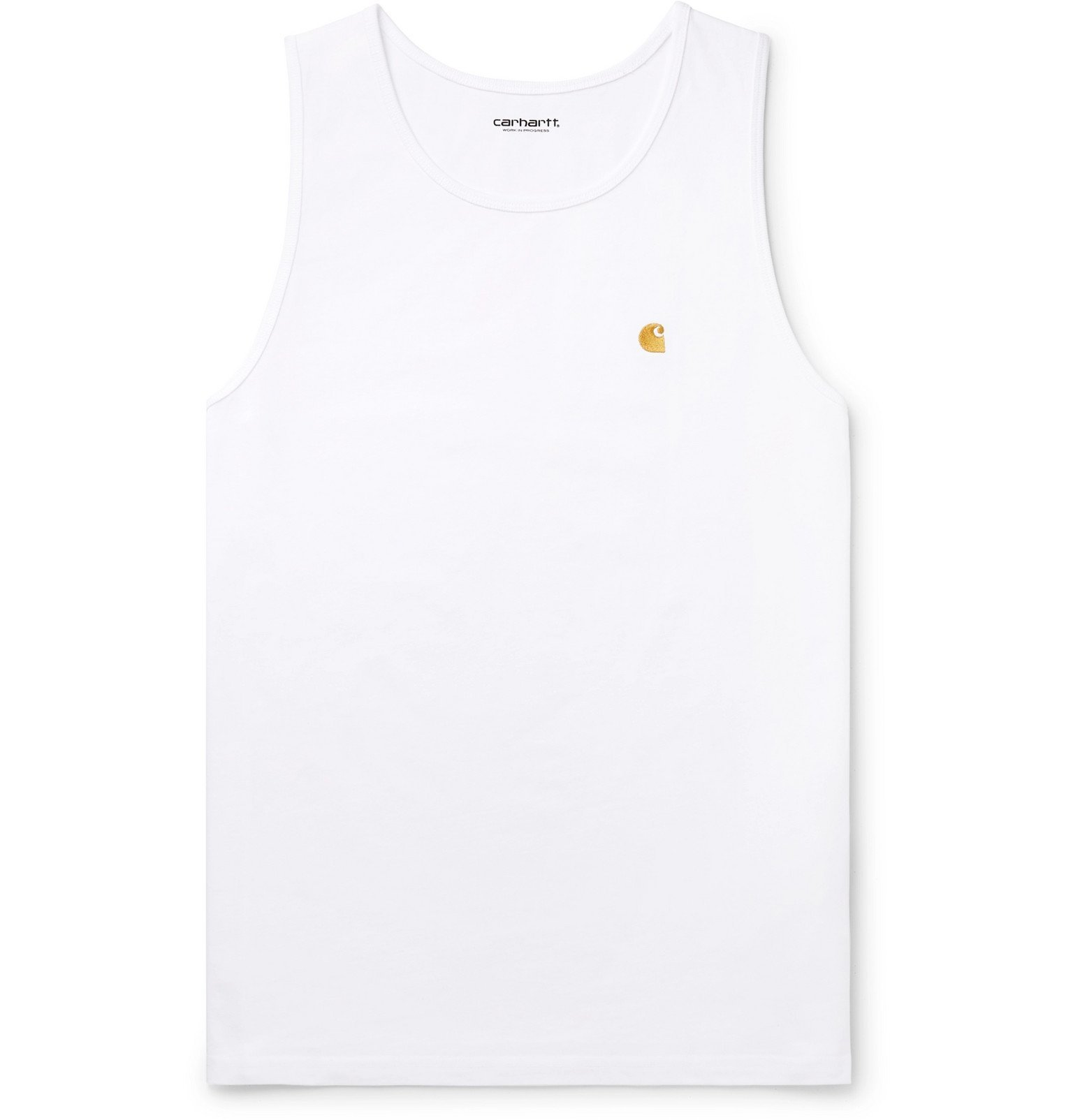 Photo: Carhartt WIP - Chase Logo-Embroidered Cotton-Jersey Tank Top - White