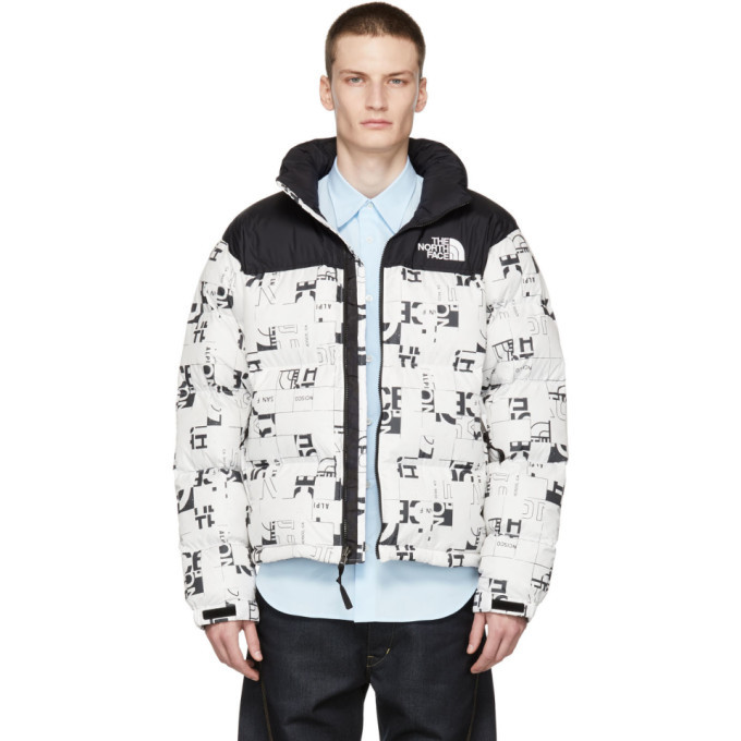 Photo: The North Face White Down 1996 Retro Broken Grid Nuptse Jacket