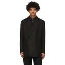 Dunhill Black Linen Half Wrap Blazer