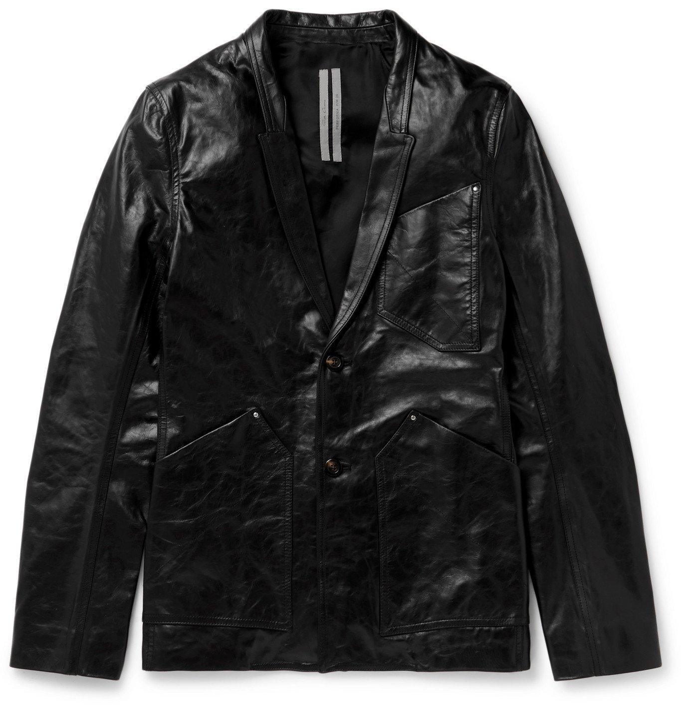 Photo: Rick Owens - Island Leather Jacket - Black