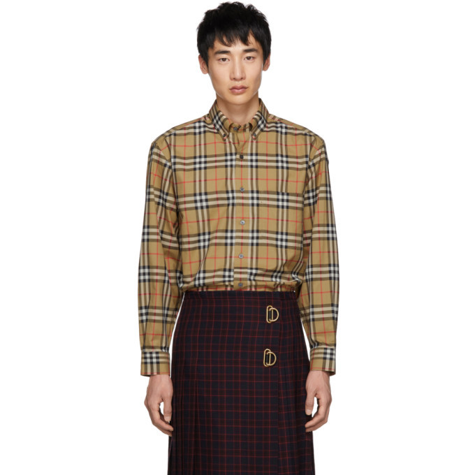 Photo: Burberry Beige Vintage Check Shirt