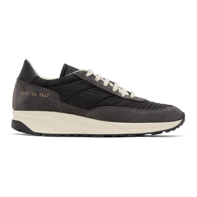 Common Projects Grey and Black Track Classic Sneakers