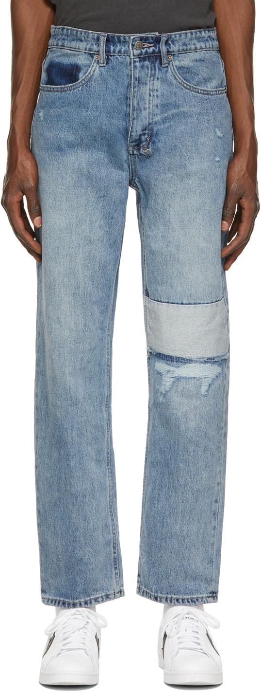 Photo: Ksubi Blue Ripped Anti K Jeans
