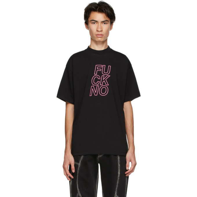 Photo: Honey Fucking Dijon Black Print Fuck No T-Shirt