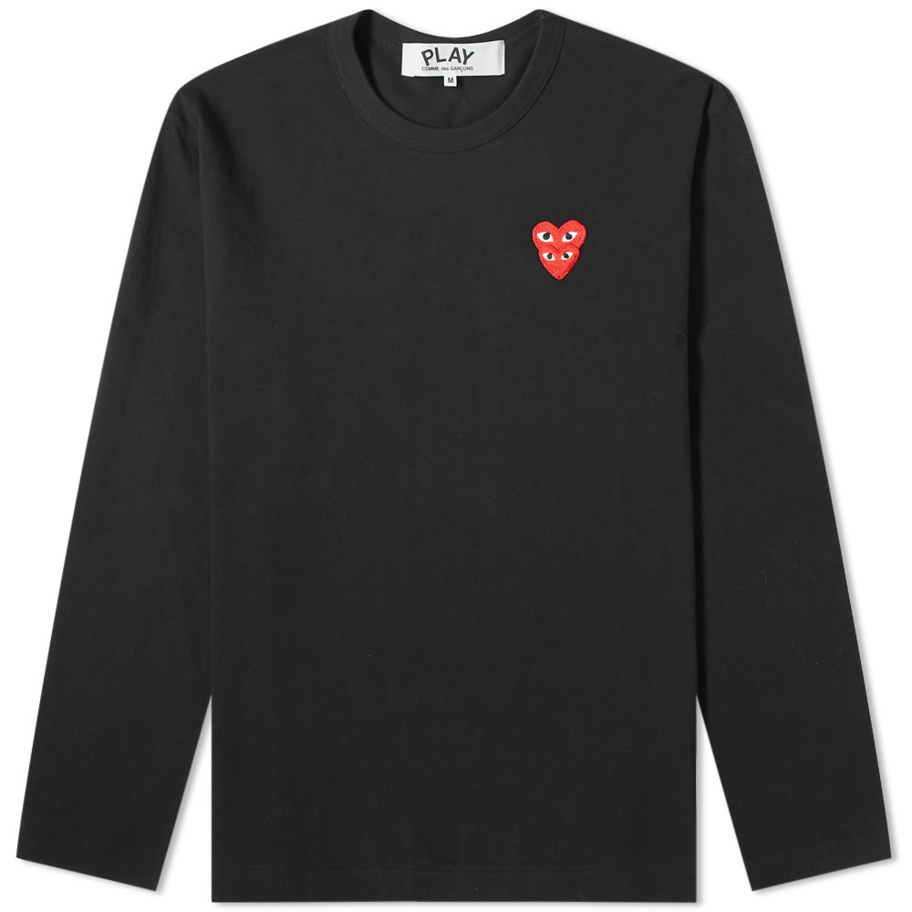 Photo: Comme des Garcons Play Long Sleeve Overlapping Heart Tee