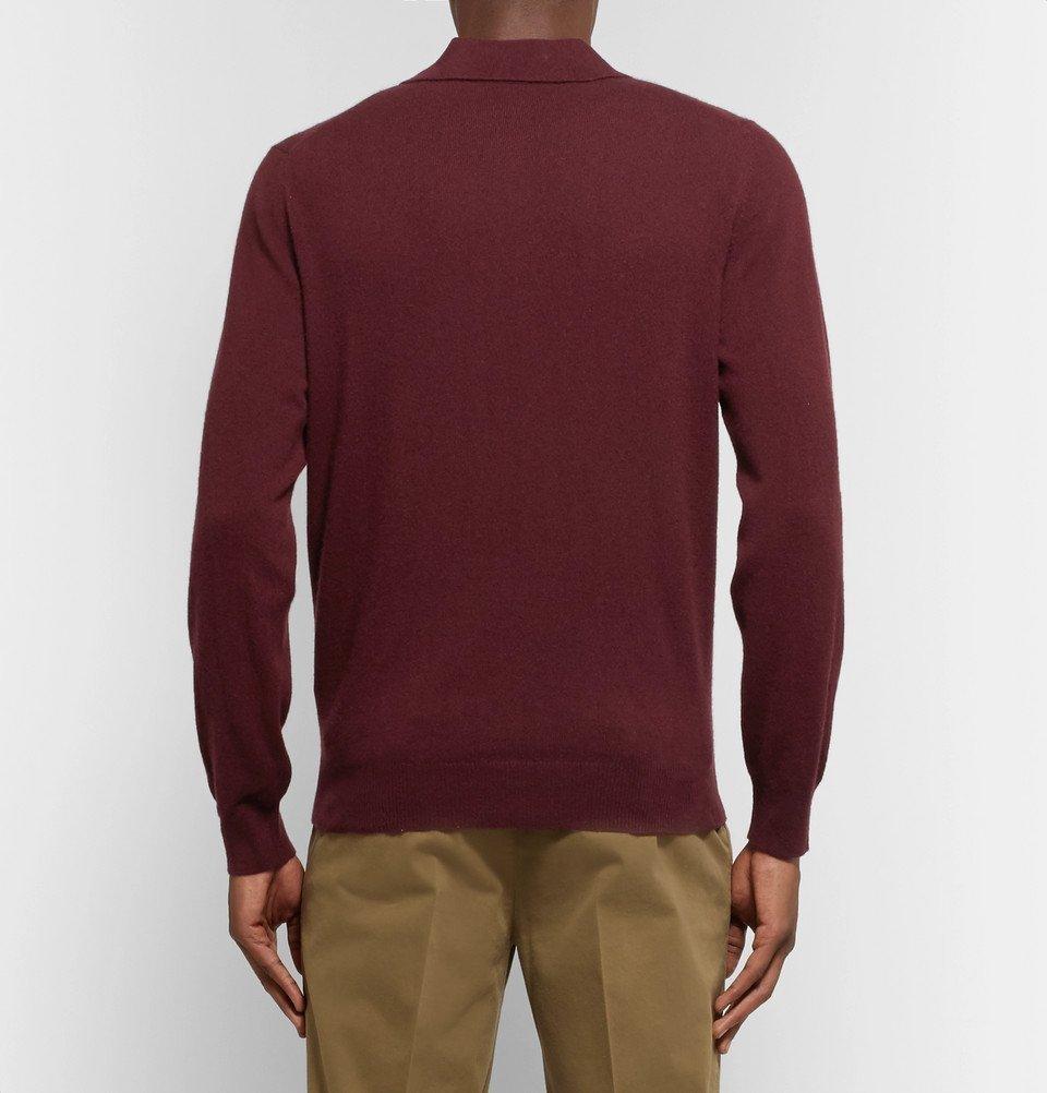 099cb45f4 Rubinacci - Cashmere Polo Shirt - Men - Burgundy Rubinacci