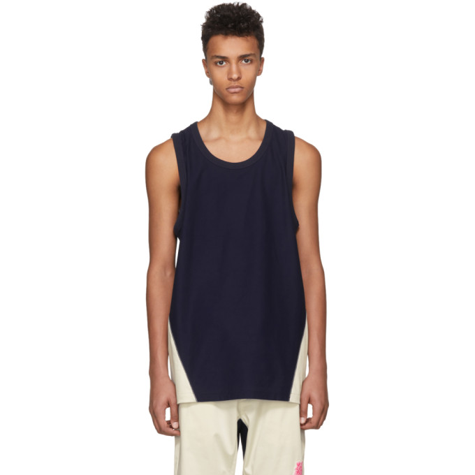Photo: Y-3 Indigo James Harden Satin Tank Top