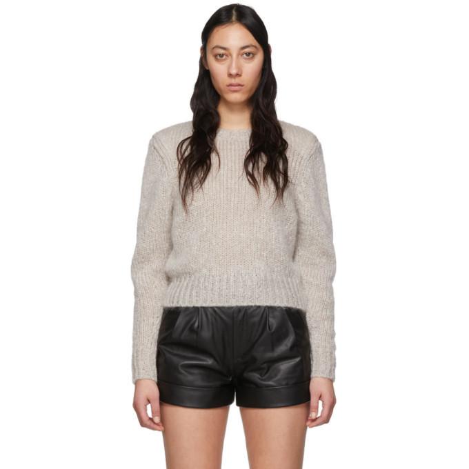 Photo: Isabel Marant Grey Mohair Idona Crewneck Sweater
