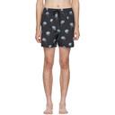 Ksubi Navy Chrome Rose Swim Shorts