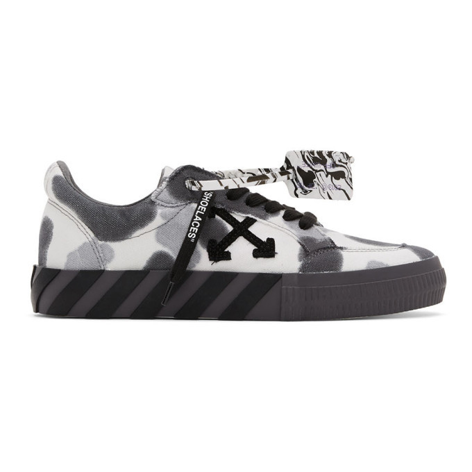 Photo: Off-White White Tie-Dye Low Vulcanized Sneakers