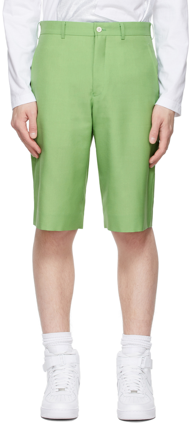 Photo: Comme des Garçons Homme Plus Green Wool Shorts