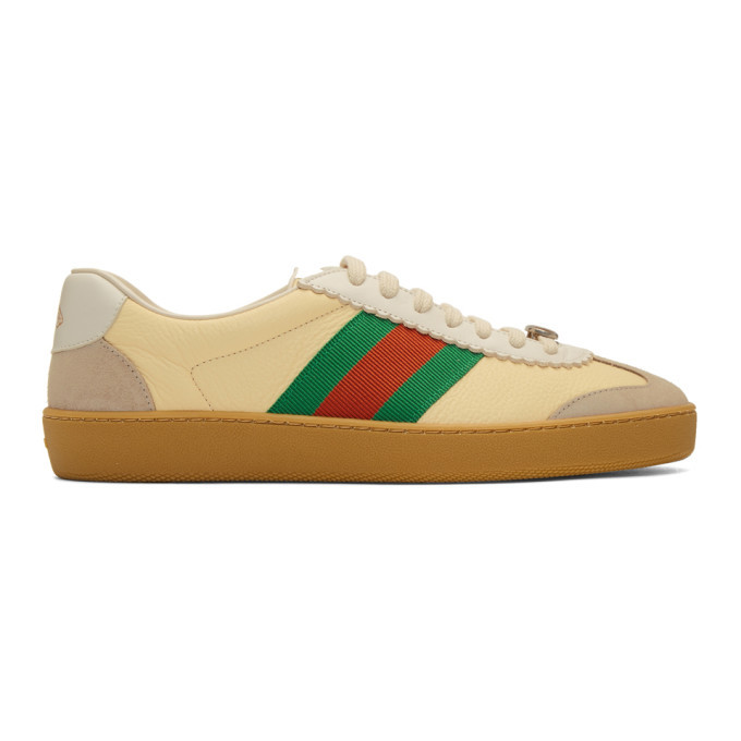 hot product hot sale online buy online Gucci Yellow and Beige JBG Sneakers