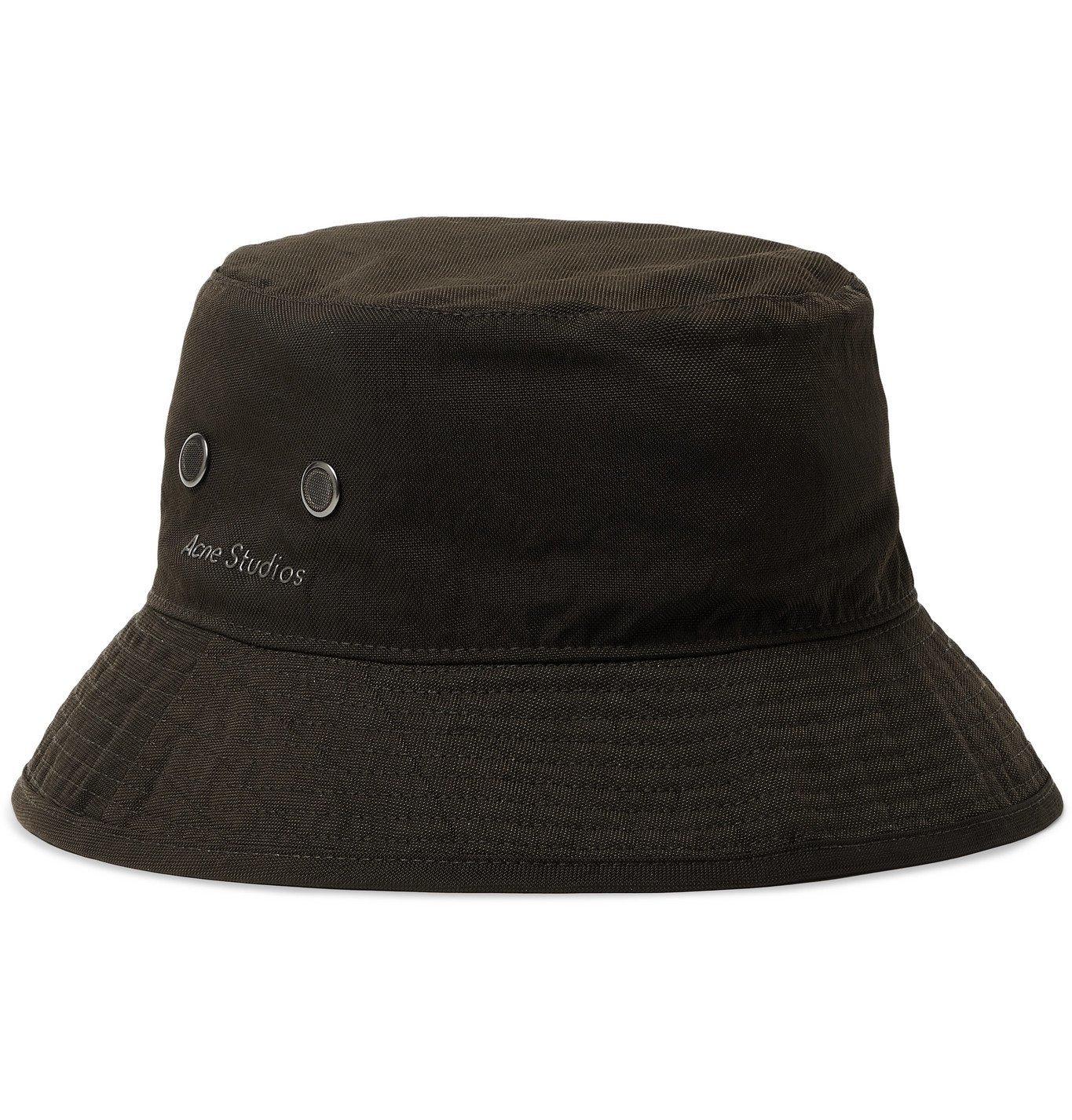 ACNE STUDIOS - Logo-Appliquéd Nylon Bucket Hat - Green