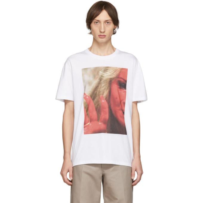 Photo: Raf Simons White Mother On Phone T-Shirt