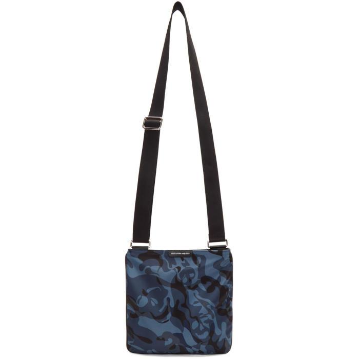 Photo: Alexander McQueen Blue Camo Zip Messenger Bag