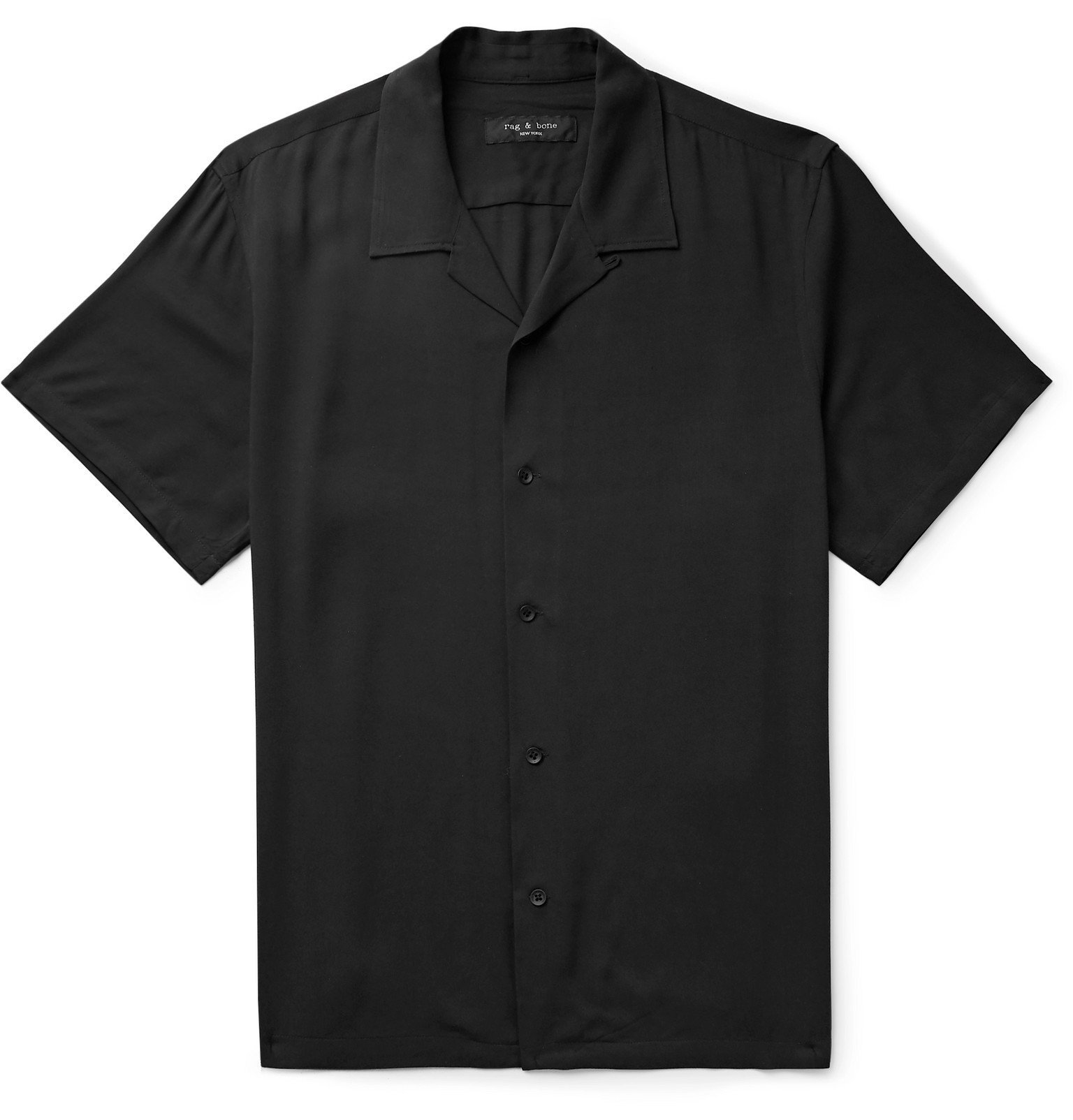 Photo: rag & bone - Avery Camp-Collar Voile Shirt - Black