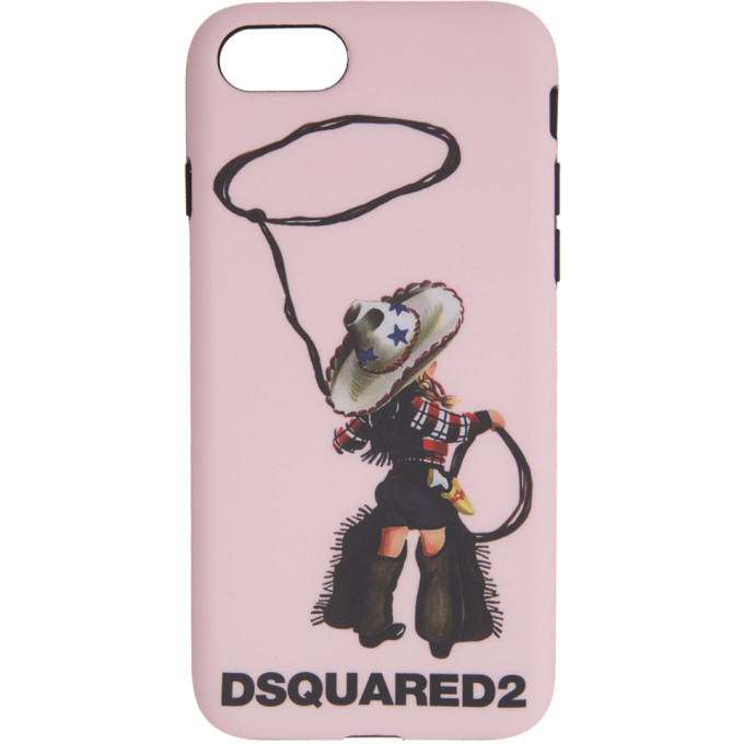 Photo: Dsquared2 Pink Logo iPhone 8 Case
