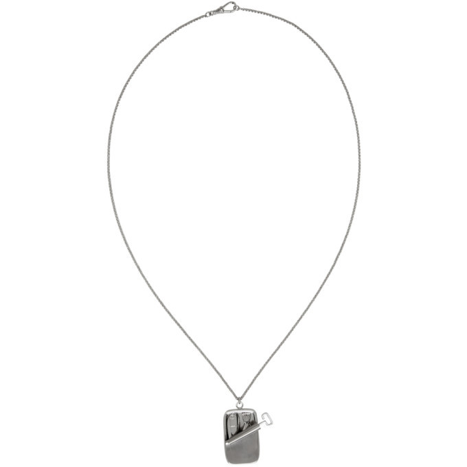 Photo: JW Anderson Silver Sardine Pendant Necklace