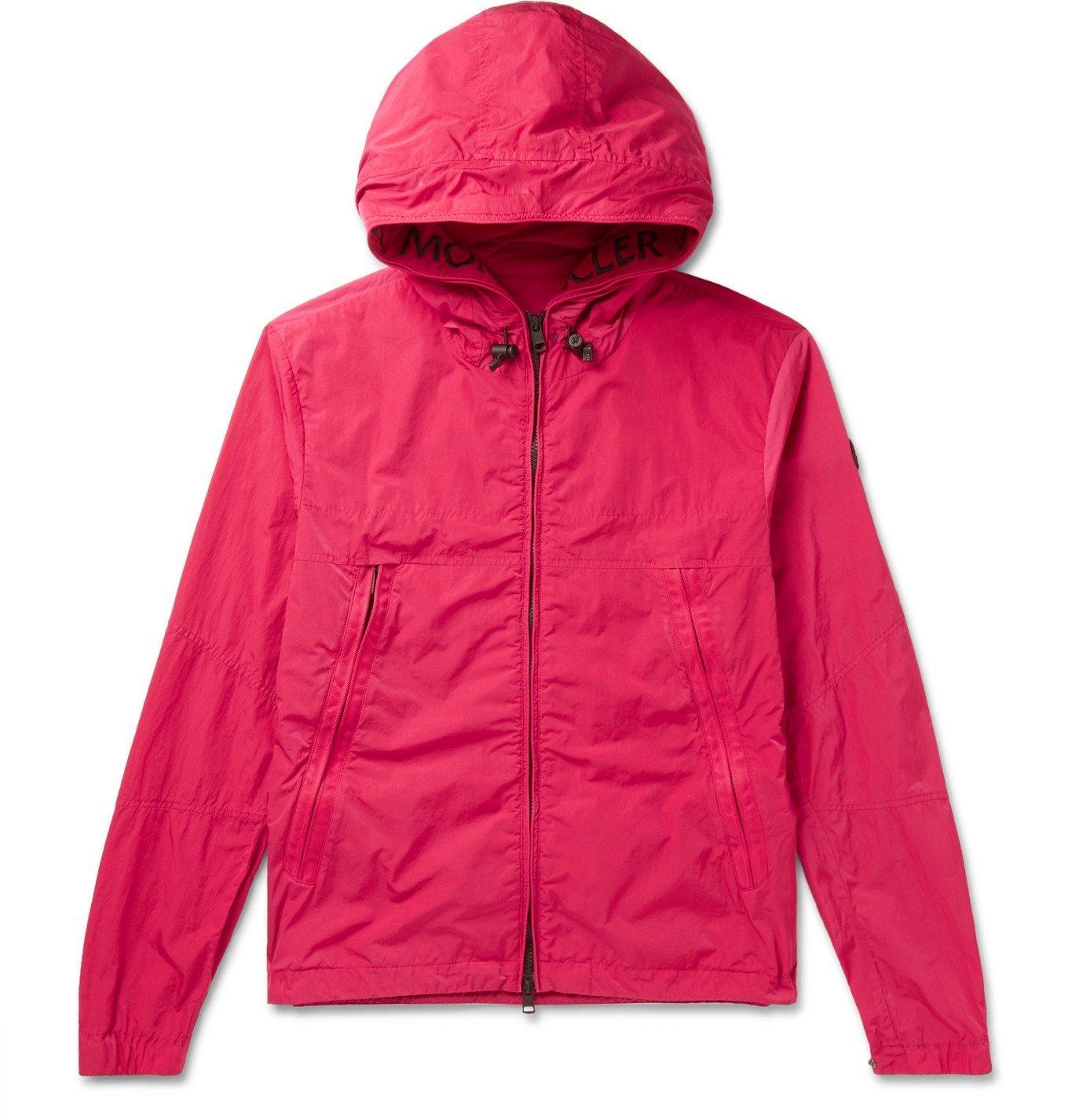 Photo: Moncler - Logo-Embroidered Grosgrain-Trimmed Shell Jacket - Pink