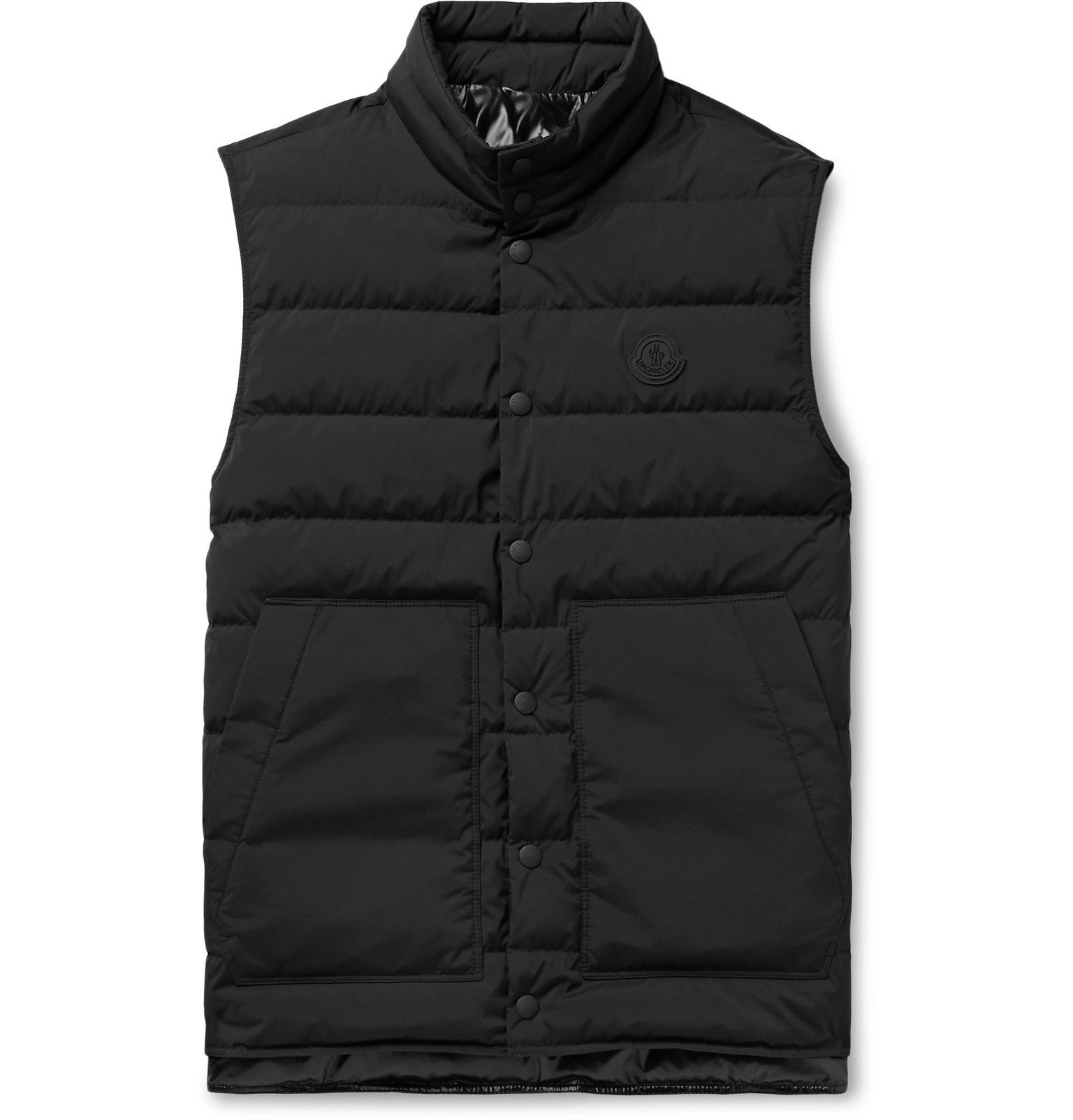 Photo: Moncler - Quilted Shell Down Gilet - Black