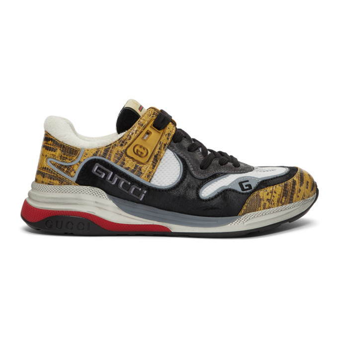 Photo: Gucci Yellow and Black Ultrapace Sneakers