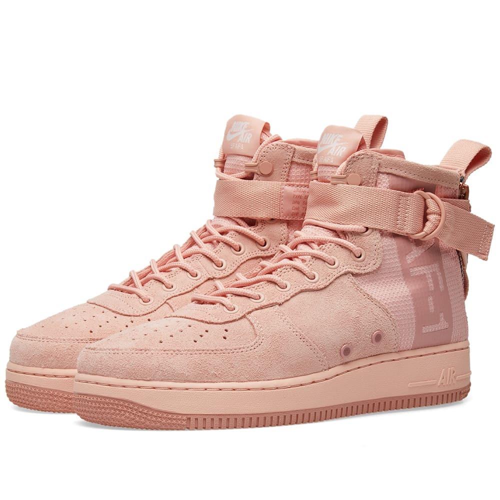 Nike SF Air Force 1 Mid Suede Pink Nike