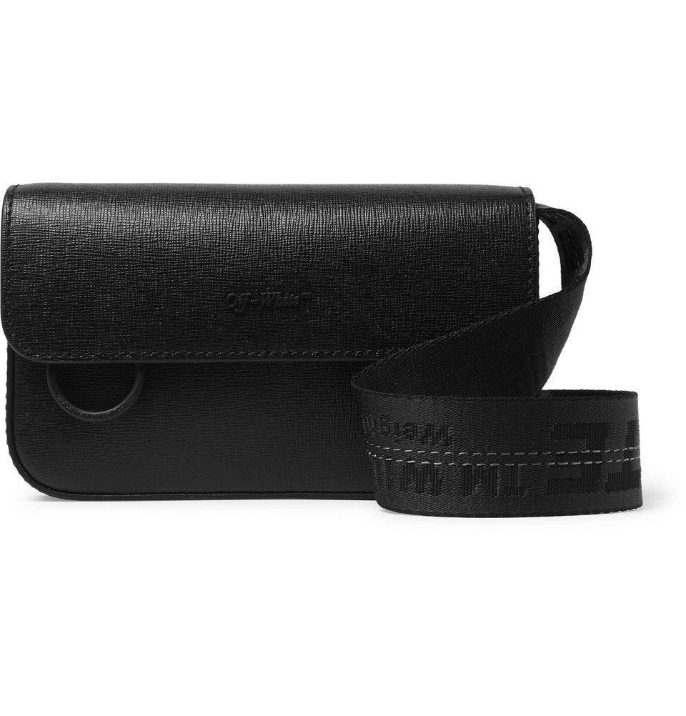 Photo: Off-White - Cross-Grain Leather Messenger Bag - Black