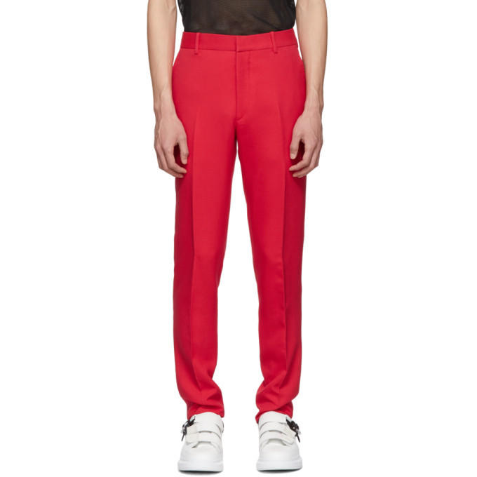 Photo: Alexander McQueen Red Wool Trousers