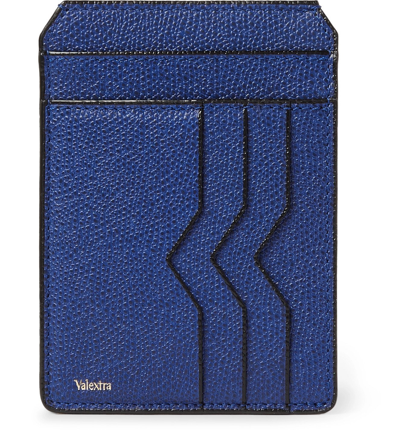 Photo: Valextra - Pebble-Grain Leather Cardholder - Blue