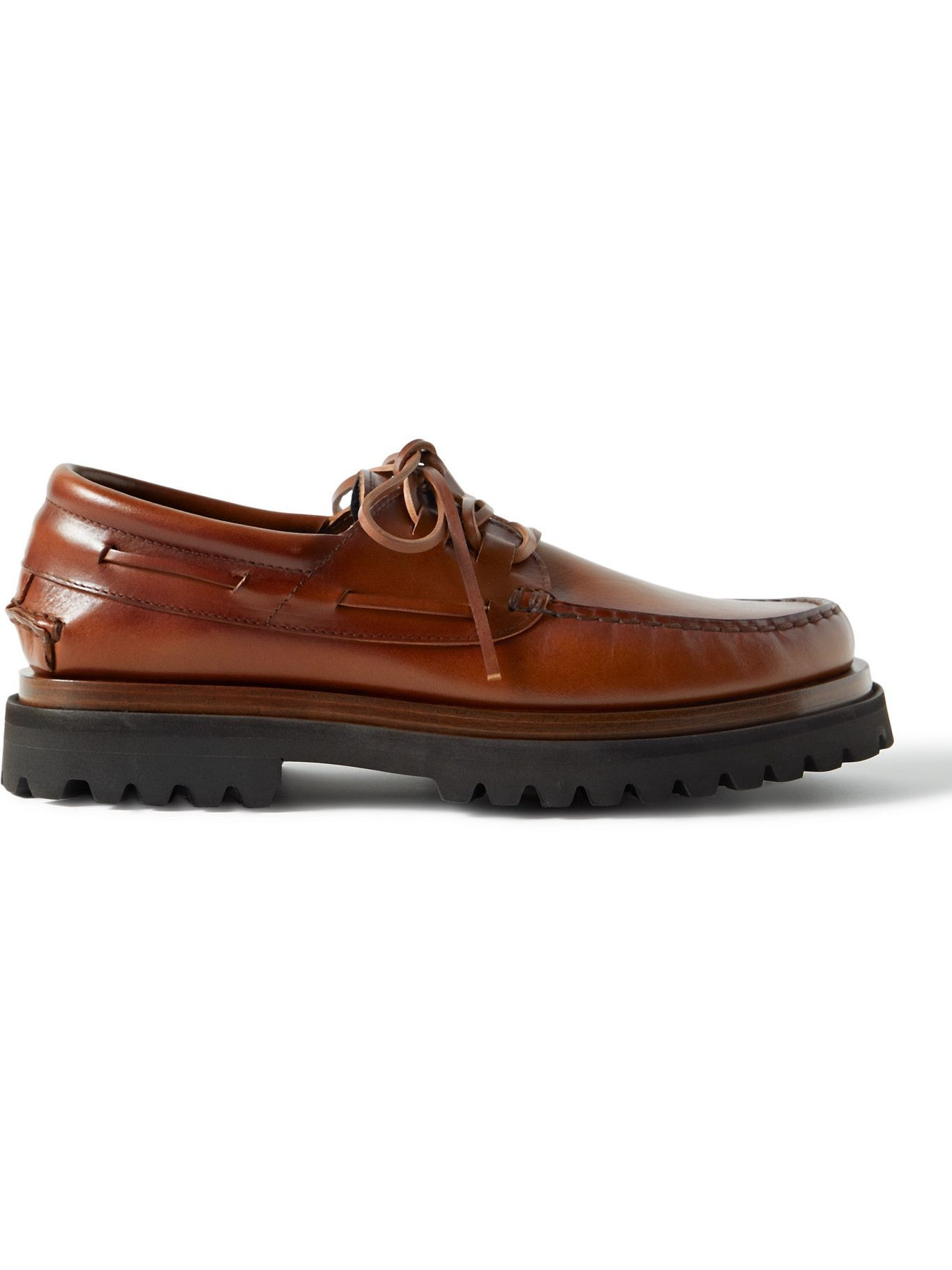 Photo: OFFICINE CREATIVE - Heritage Leather Boat Shoes - Brown