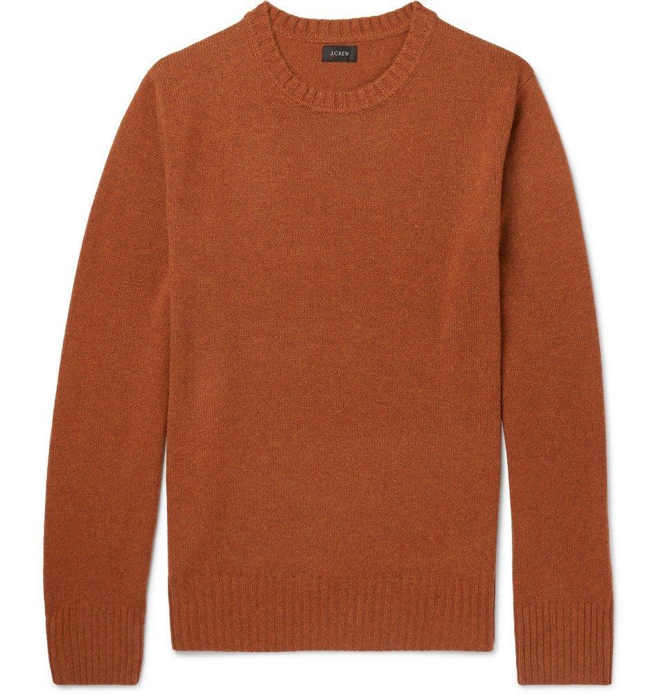 Photo: J.Crew - Merino Wool-Blend Sweater - Men - Orange