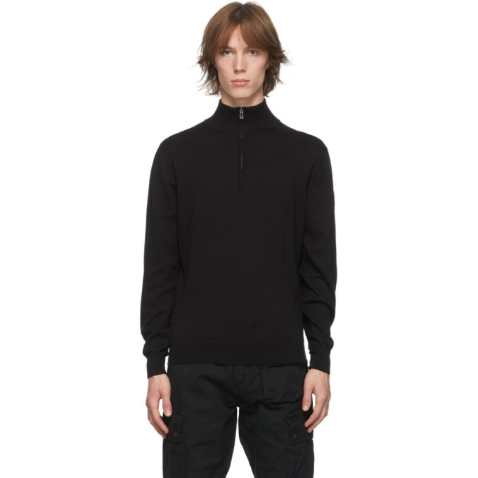 Photo: Belstaff Black Bay Half-Zip Sweatshirt