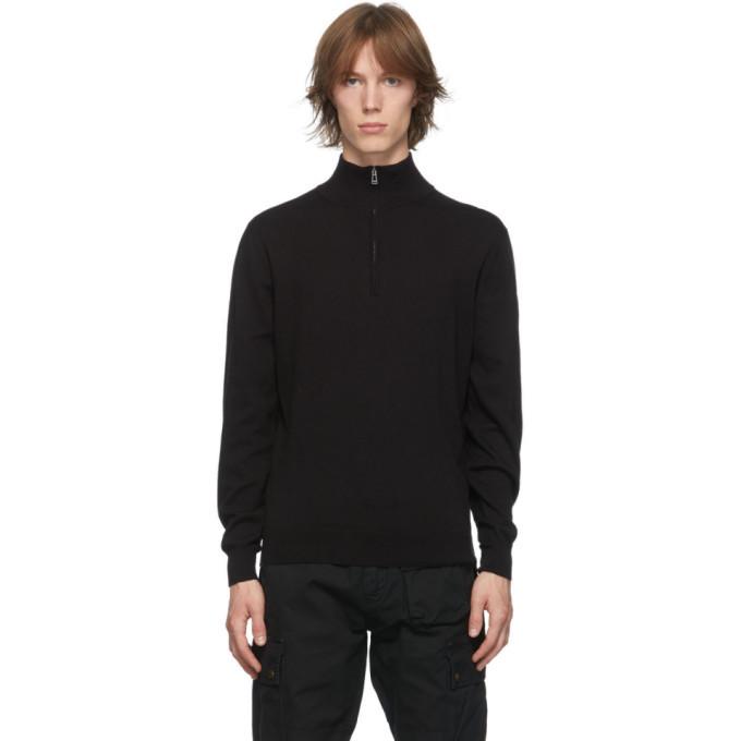 Photo: Belstaff Black Bay Half-Zip Sweatshirt