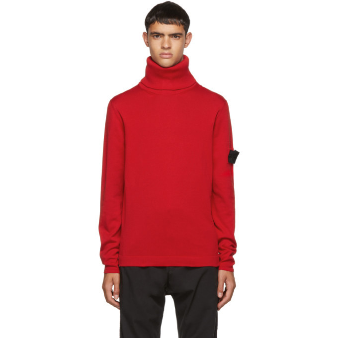 Photo: Stone Island Shadow Project Red Knit Turtleneck
