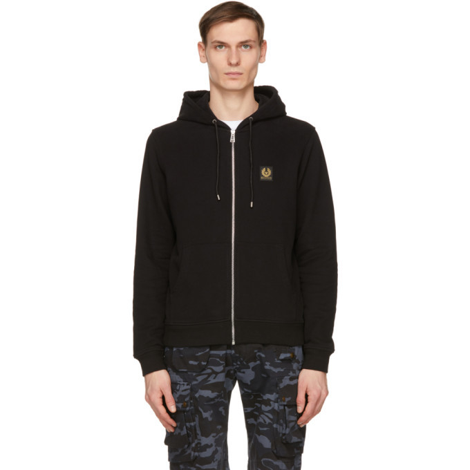 Photo: Belstaff Black French Terry Zip Hoodie