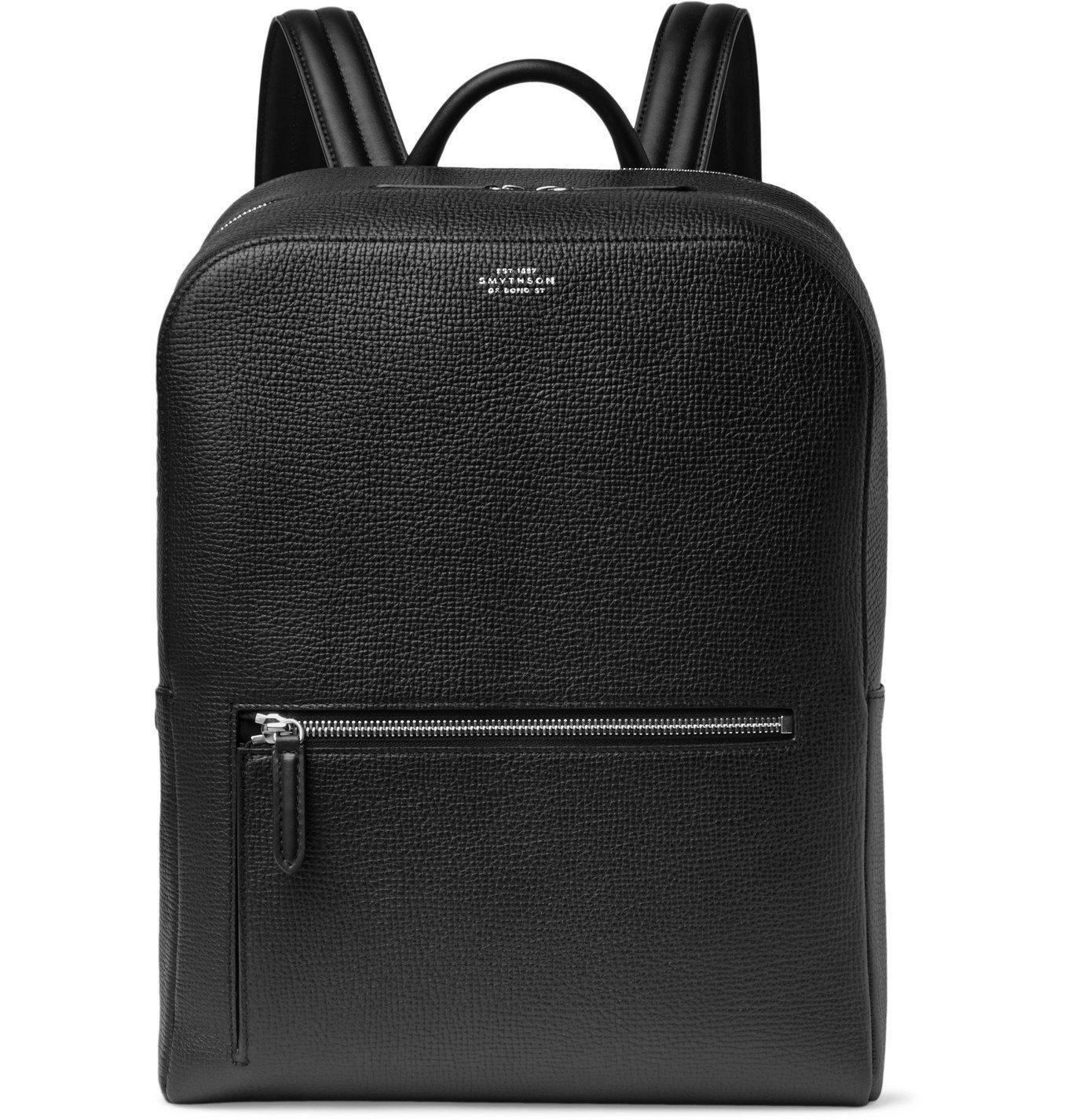Smythson - Ludlow Full-Grain Leather Backpack - Black