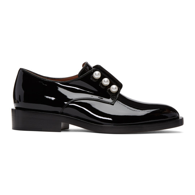 Photo: Givenchy Black Patent Leather Pearl Derbys