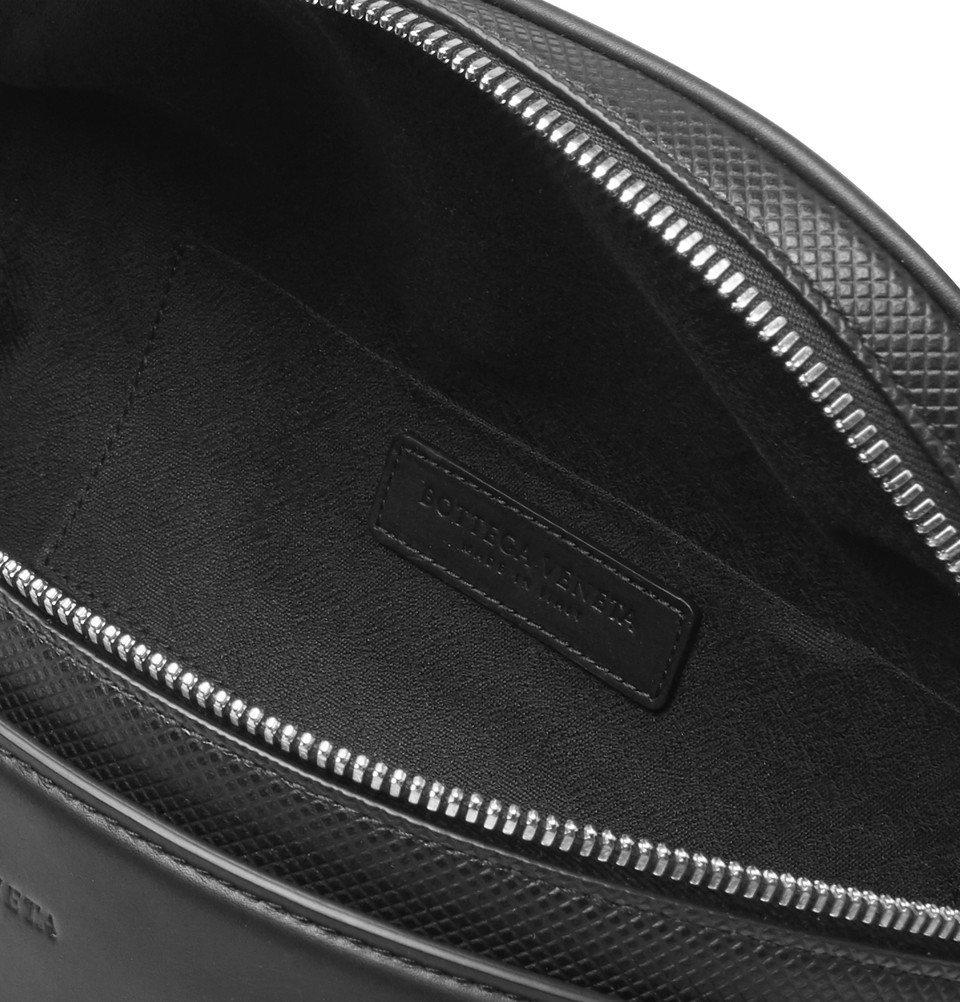 Bottega Veneta - Marcopolo Textured-Leather Leather Belt Bag - Black