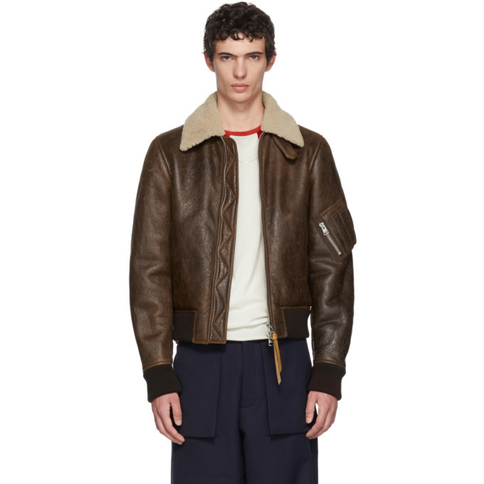 Photo: JW Anderson Brown Shearling Aviator Jacket