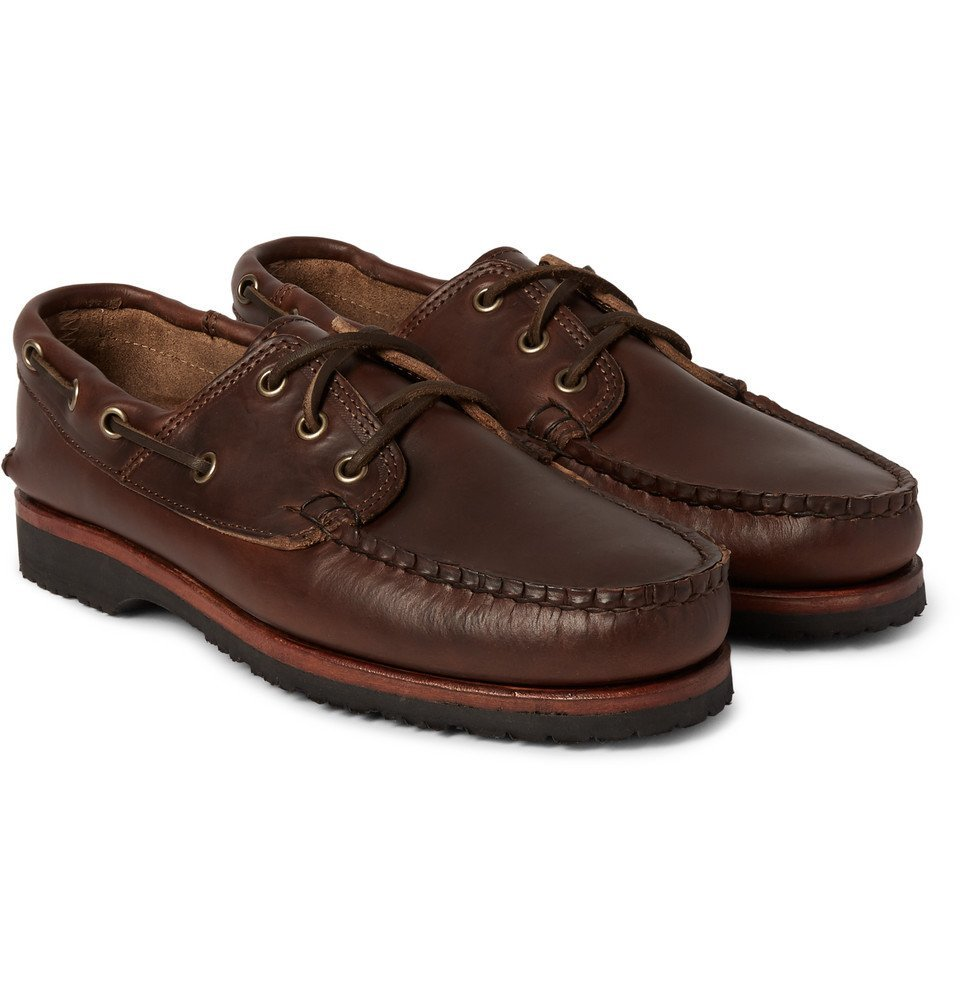 Photo: Quoddy - Leather Boat Shoes - Brown