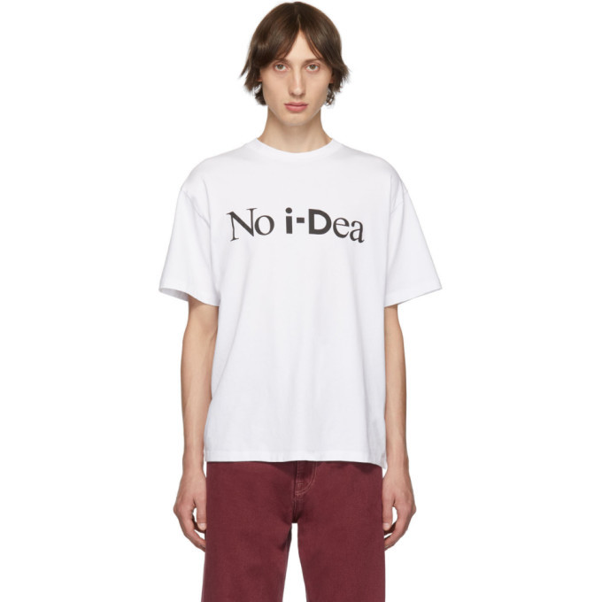 Aries White i-D Edition No Idea T-Shirt
