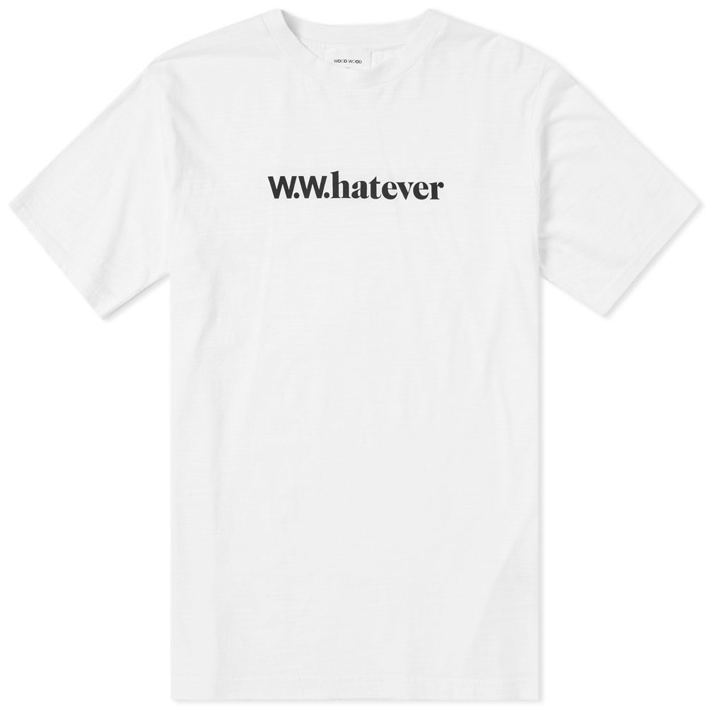 Wood Wood Perry Whatever Tee Bright White