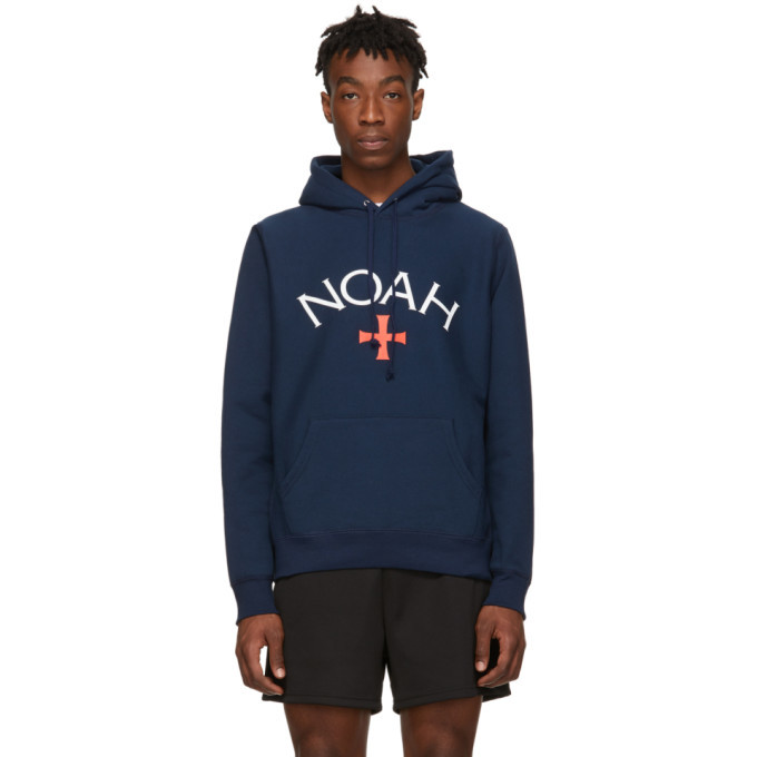 Photo: Noah NYC Navy Logo Hoodie