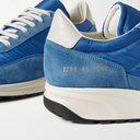 COMMON PROJECTS - Track Classic Leather-Trimmed Suede and Ripstop Sneakers - Blue
