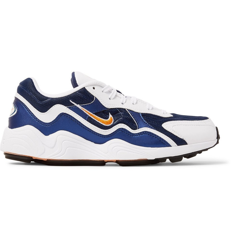 Photo: Nike - Air Zoom Alpha Mesh and Leather Sneakers - Blue