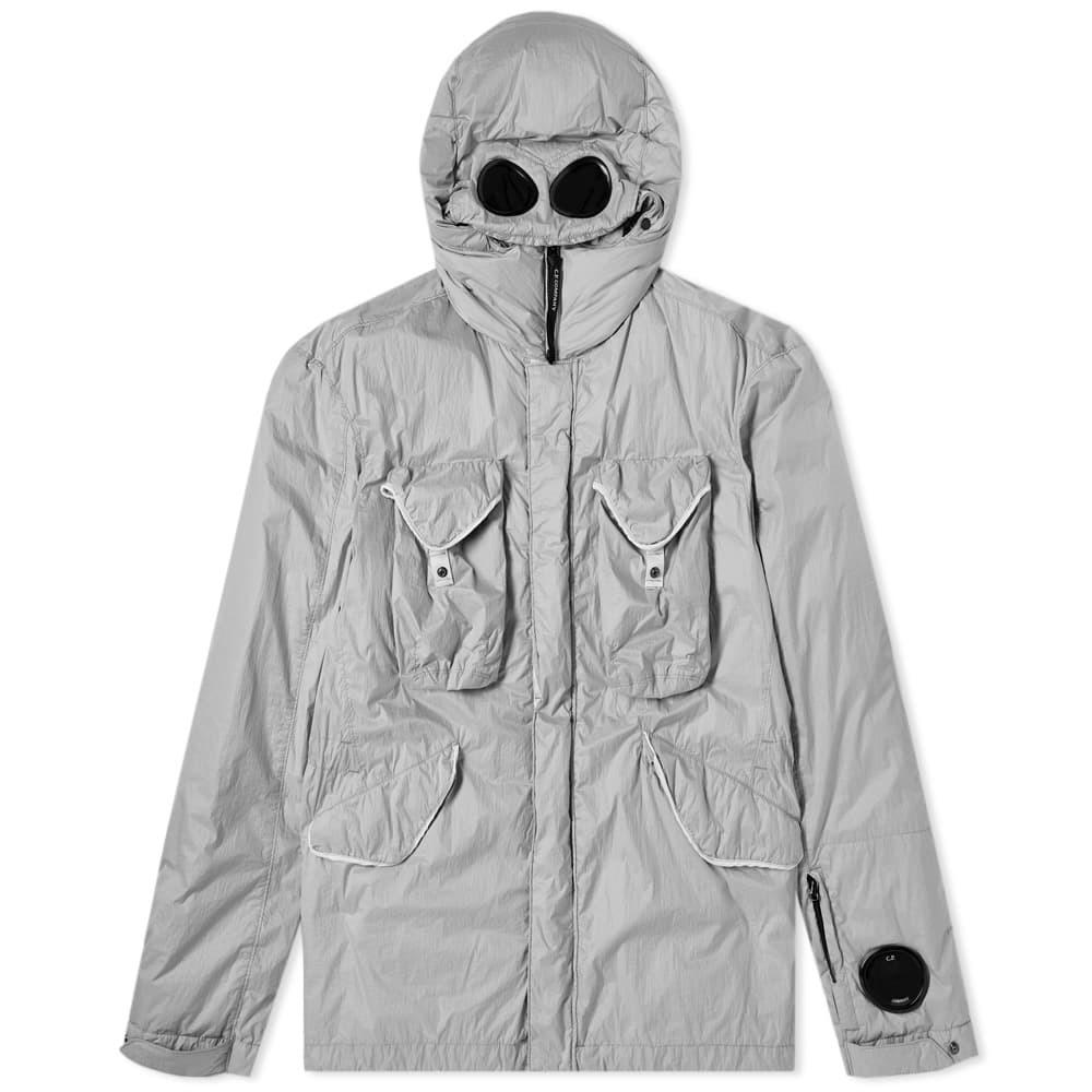 Photo: C.P. Company Silver Nylon Goggle Jacket Silver